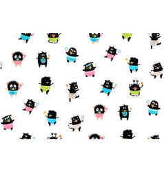 kids seamless pattern background funny toddlers vector image