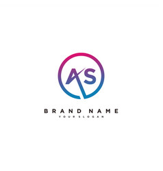 Letter as logo design vector