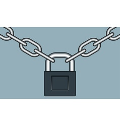 Lock and chain vector