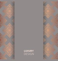 Luxury wedding invitation vector