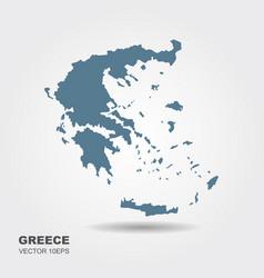 Map greece vector