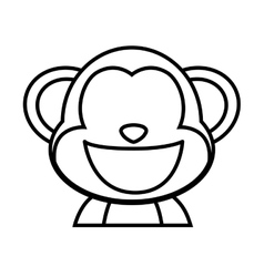 Monkey icon Cute animal design graphic vector image