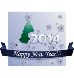 New Year Card made in Plane Style vector image