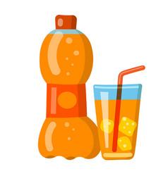 orange soda vector image