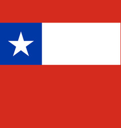 original flag of chile - of vector image