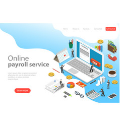 payroll flat isometric landing page vector image