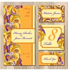 Peacock Feathers wedding card set Printable vector