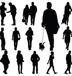 people walk vector image