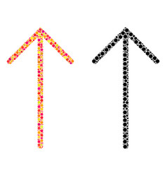 Pixel arrow up mosaic icons vector