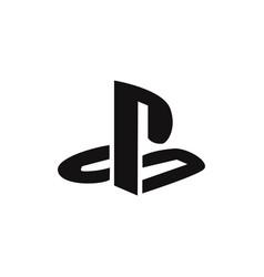 playstation logo icon vector image