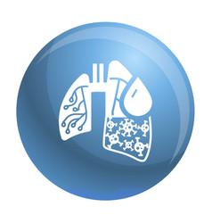 pneumonia virus lungs icon simple style vector image