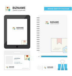 protected document business logo tab app diary vector image