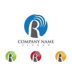 R letter logo template icon design vector