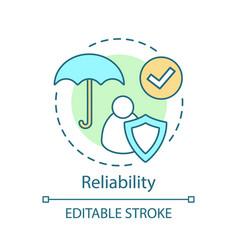 reliability concept icon vector image