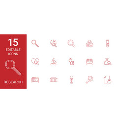 research icons vector image