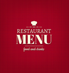 Restaurant Menu Card vector image