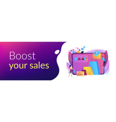 Sales promotion concept banner header vector
