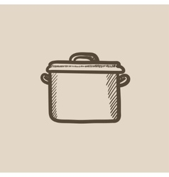 Saucepan sketch icon vector