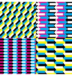 seamless arrow patterns vector image