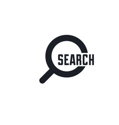search icon found find concept magnifying glass vector image