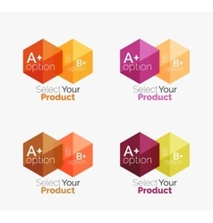 Set of business hexagon layouts with text and vector image