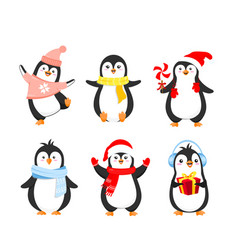 set of funny christmas vector image