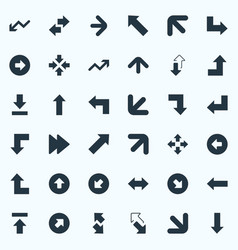 set of simple indicator icons elements right vector image