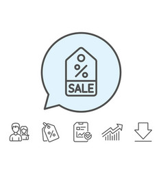 Shopping tag line icon special offer sign vector