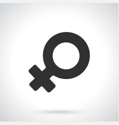 Silhouette female venus symbol vector