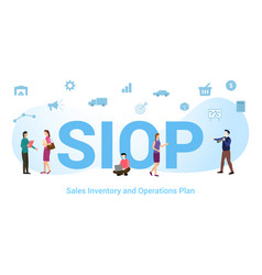 Siop sales inventory and operations plan concept vector