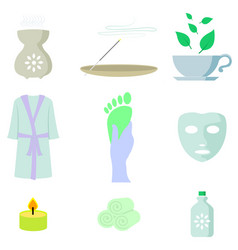 spa color icon set vector image