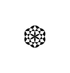 sri yantra geometry icon logo design vector image
