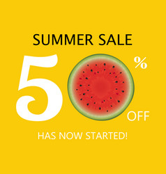 summer sale poster with watermelon vector image
