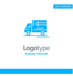 truck delivery goods vehicle blue business logo vector image
