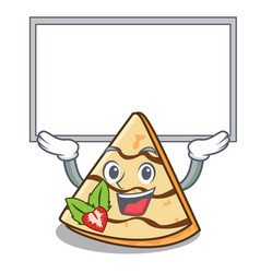 Up board crepe character cartoon style vector
