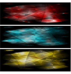 vibrant banners collection vector image