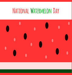 watermelon national day banner vector image
