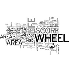 Wheel of life text word cloud concept vector