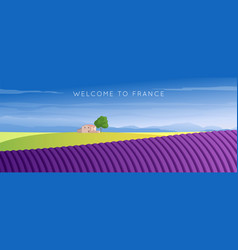 wide panorama france landscape vector image