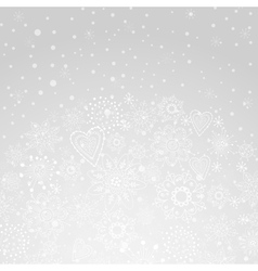 winter abstract background of the snowflake vector image