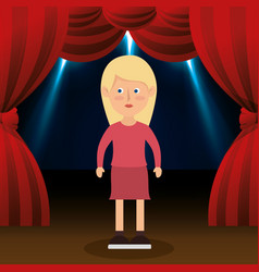 woman avatar in theater vector image