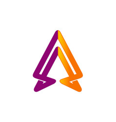 arrow up abstract business company logo vector image vector image