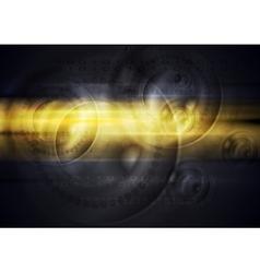 Dark orange glowing tech background vector image