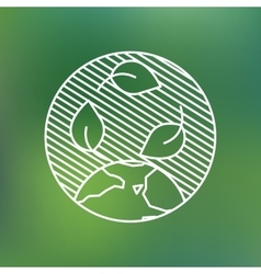 Earth globe leaves planet protection care vector image