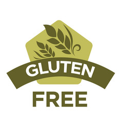 gluten free healthy dietetic product icon vector image vector image