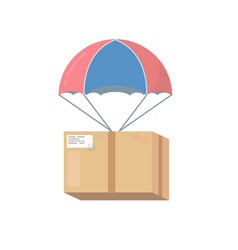 pakage box with parachute vector image