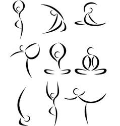 yoga symbol vector image vector image