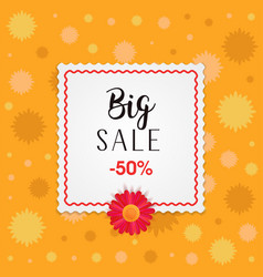 big sale banner design with frame and different vector image vector image