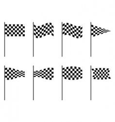 checkered flags collection vector image