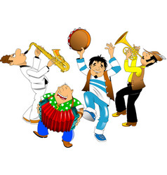 cheerful musical orchestra vector image vector image